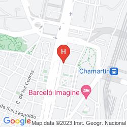 Map MADRID CHAMARTIN MANAGED BY MELIA HOTELS INTERNATIONAL
