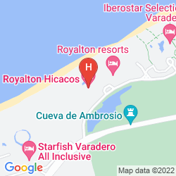 Map ROYALTON HICACOS RESORT AND SPA