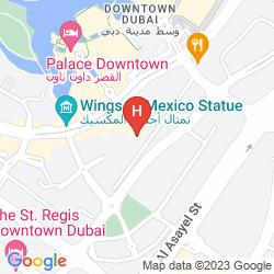 Map THE PALACE DOWNTOWN DUBAI