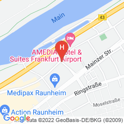 Map BEST WESTERN AMEDIA FRANKFURT AIRPORT