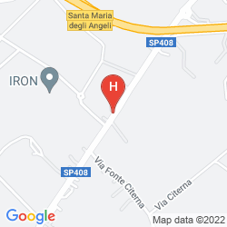 Map BEST WESTERN VALLE DI ASSISI