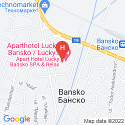 Map APARTHOTEL LUCKY BANSKO SPA & RELAX
