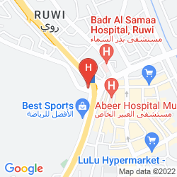 Map CROWNE PLAZA MUSCAT