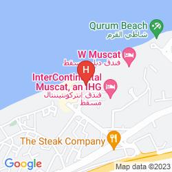 Map AL QURUM RESORT