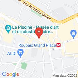 Map MERCURE LILLE ROUBAIX GRAND HOTEL