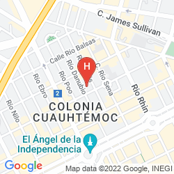 Map MARQUIS REFORMA HOTEL & SPA CIUDAD DE MEXICO