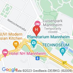 Map MERCURE HOTEL MANNHEIM AM FRIEDENSPLATZ