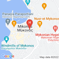Map MADRES HOUSES MYKONOS