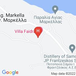 Map GRAND VIEW VILLAS SAMOS