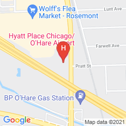 Map HYATT PLACE CHICAGO/O'HARE AIRPORT