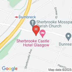 Map SHERBROOKE CASTLE