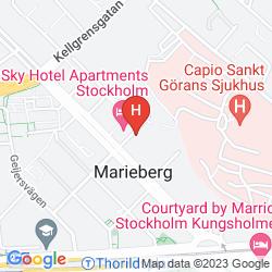 Map STOCKHOLM HOTEL LINDHAGEN