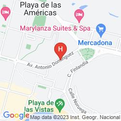 Map APARTAMENTOS MAR-OLA PARK