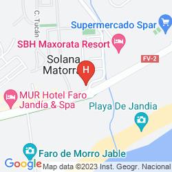 Map STELLA JANDIA APARTMENTS