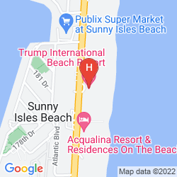 Map TRUMP INTERNATIONAL BEACH RESORT
