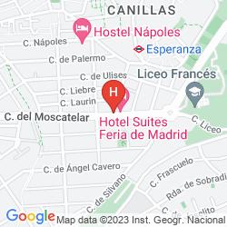 Map A&H SUITES MADRID