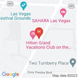 Map HILTON GRAND VACATIONS ON THE LAS VEGAS STRIP