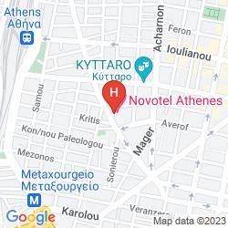 Map NOVOTEL ATHENES