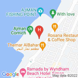 Map RAMADA HOTEL AND SUITES AJMAN