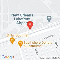 Map HAMPTON INN NEW ORLEANS DOWNTOWN