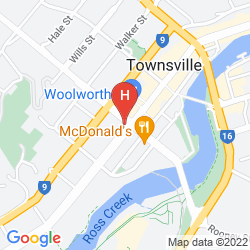 Map PLAZA HOTEL TOWNSVILLE