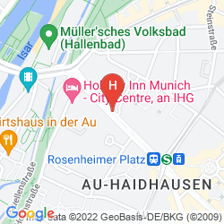 Map HILTON MUNICH CITY