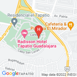 Map RADISSON HOTEL TAPATIO GUADALAJARA