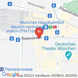 Map LE MERIDIEN MUNICH