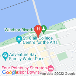 Map TRAVELODGE DOWNTOWN WINDSOR