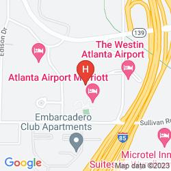 Map ATLANTA AIRPORT MARRIOTT