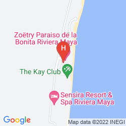 Map ZOETRY PARAISO DE LA BONITA RESORT ALL INCLUSIVE