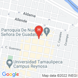 Map HOWARD JOHNSON PLAZA HOTEL ROYAL GARDEN REYNOSA