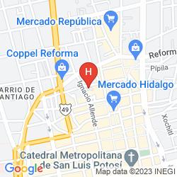 Map CITY EXPRESS SAN LUIS POTOSI