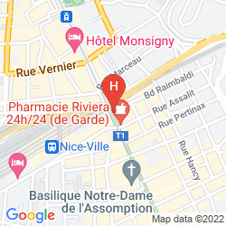 Map KYRIAD NICE GARE