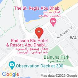 Map RADISSON BLU HOTEL & RESORT, ABU DHABI CORNICHE