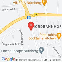 Map CENTRO HOTEL NURNBERG