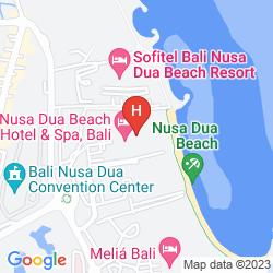 Map NUSA DUA BEACH HOTEL & SPA