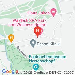 Map PARKHOTEL WALDECK SPA RESORT