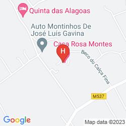 Map ALBERGARIA ROSA MONTES