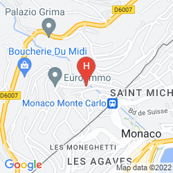 Map APARTHOTEL ADAGIO MONACO MONTE CRISTO