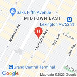 Map INTERCONTINENTAL NEW YORK BARCLAY
