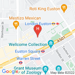 Map THE WESLEY EUSTON HOTEL & CONFERENCE VENUE