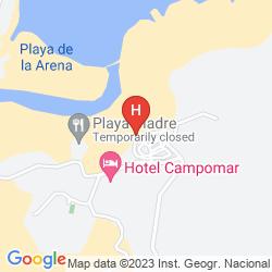 Map PLAYA LA ARENA