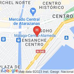 Map MARIPOSA HOTEL MALAGA