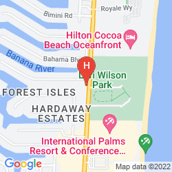 Map DOUBLETREE HOTEL COCOA BEACH-OCEANFRONT