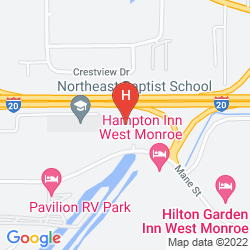 Map HILTON GARDEN INN WEST MONROE