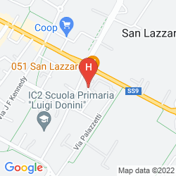 Map UNAWAY HOTEL BOLOGNA SAN LAZZARO