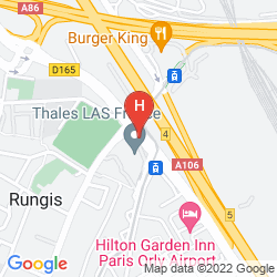 Map BEST WESTERN PLUS PARIS ORLY AIRPORT