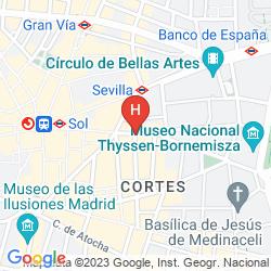 Map CASUAL MADRID DEL TEATRO
