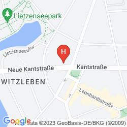 Map IVBERGS HOTEL CHARLOTTENBURG